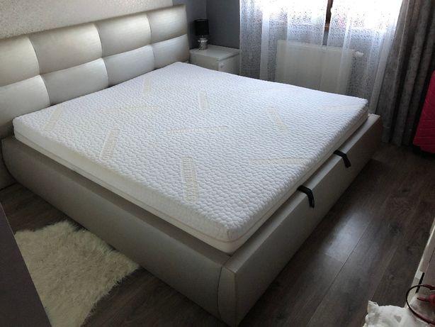 Łóżko sypialniane z pojemnikiem + materac 180x200 KOŁO