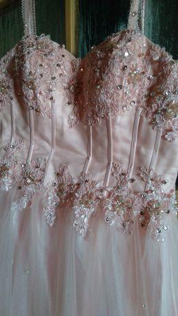 Sukienka ślubna z cekinami