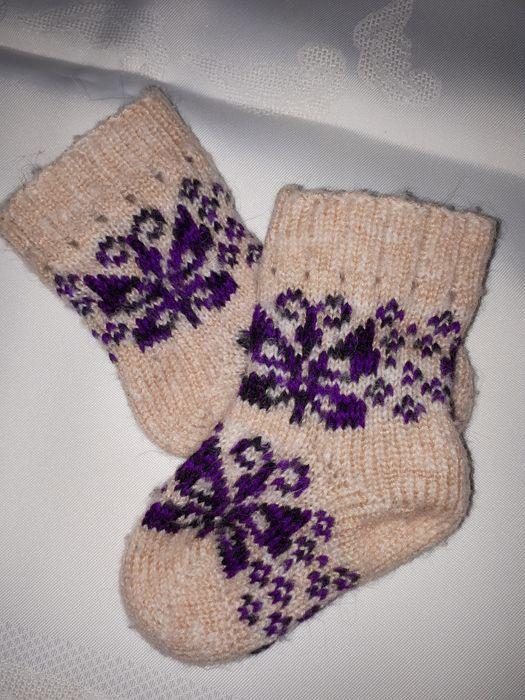 Носочки из овечьей шерсти детские Херсон - изображение 1