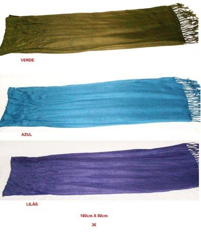 4 Echarpes de cores diferentes
