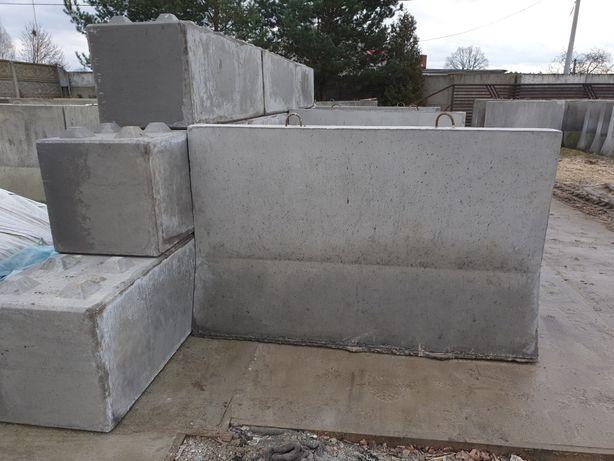 Sciana oporowa bloki betonowe lego silos zasieka