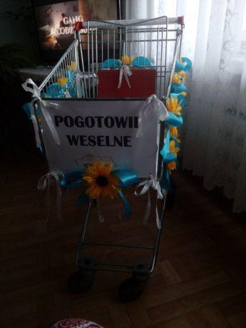 Dekoracja ozdoby na wózek weselny dla drużby drużba