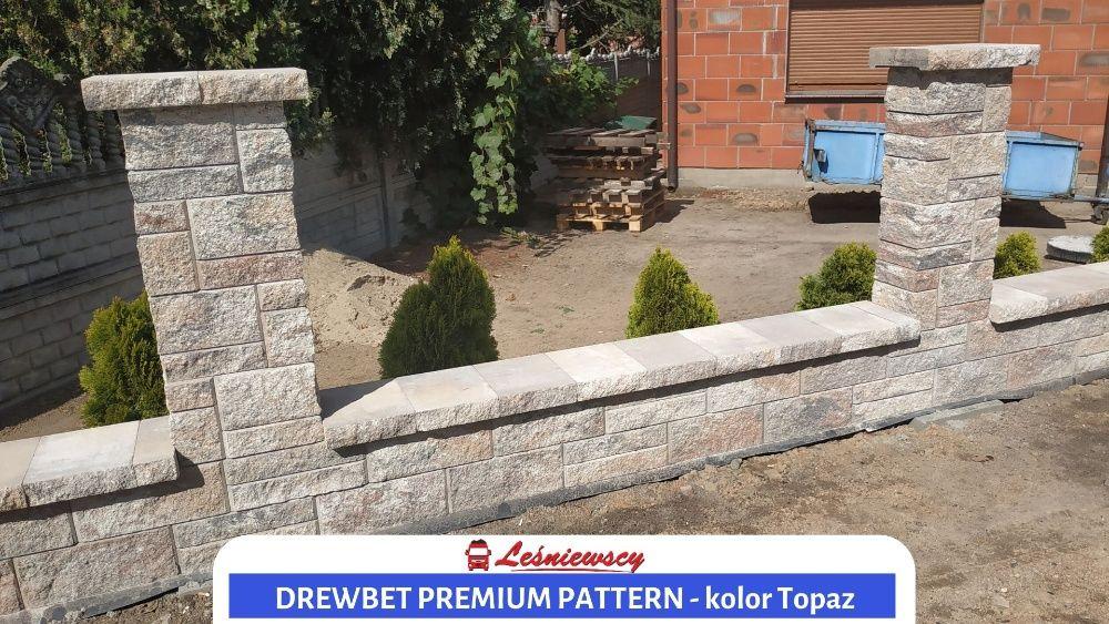 Ogrodzenie łupane DREWBET płoty ogrodzenia JAROCIN nowoczesne PROJEKT
