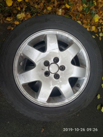 Литые диски R16x6,5 ET40 DIA 57.1 5х100 c резиной 205/55/R16