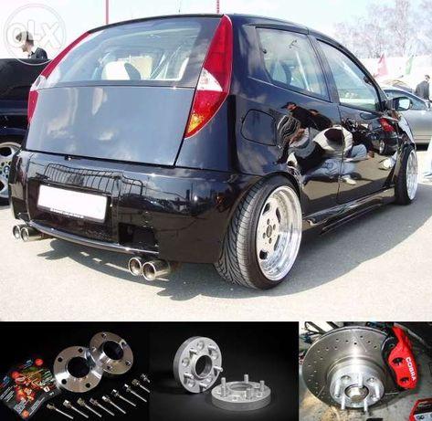 DYSTANSE +ŚRUBY poszerz oś FIAT Punto Panda Coupe Bravo-10,15,20,25mm