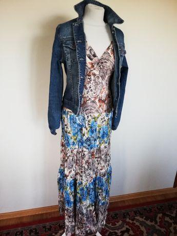 Suknia długa boho kwiaty rozmiar m folklor