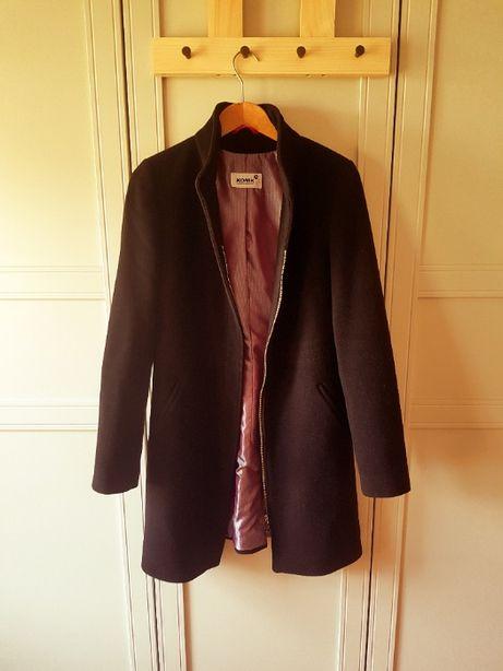 Czarny płaszcz 36 wełniany płaszcz , płaszcz zimowy