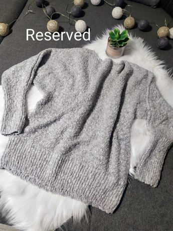 Damski sweter że srebrną nitką Reserved rozmiar L