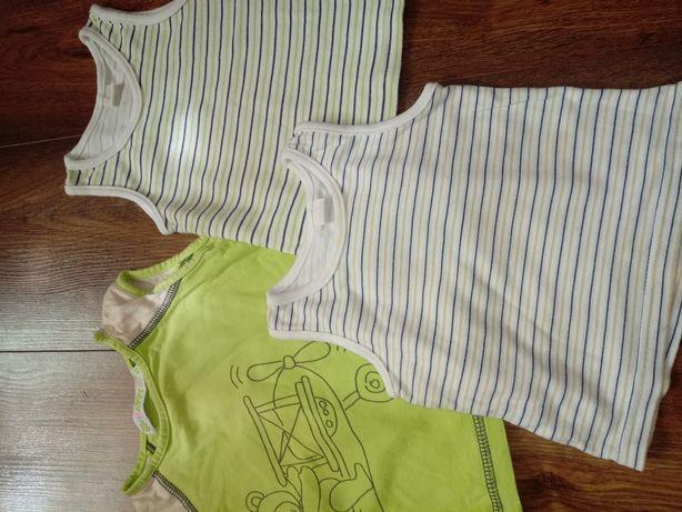 Ubranka chłopięce letnie 74-80
