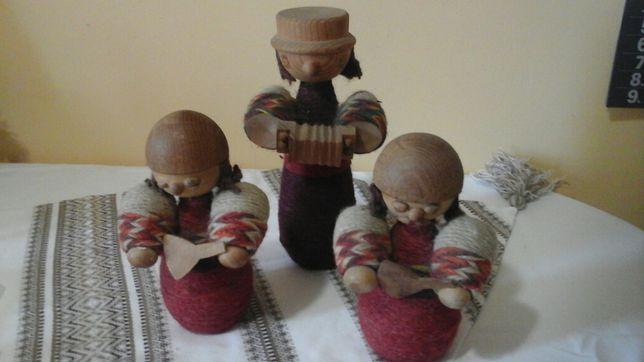 Три деревяні ляльки ручної роботи часів ссср