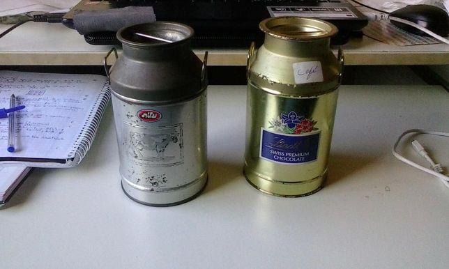 Potes em alumínio (Milk Container) - Estilo Vintage