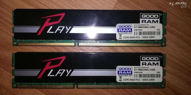 Goodram DDR3-1866 2x8gb (16gb) PC3-15000 Play Black