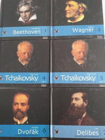 Cd's de música clássica, com cd e livro