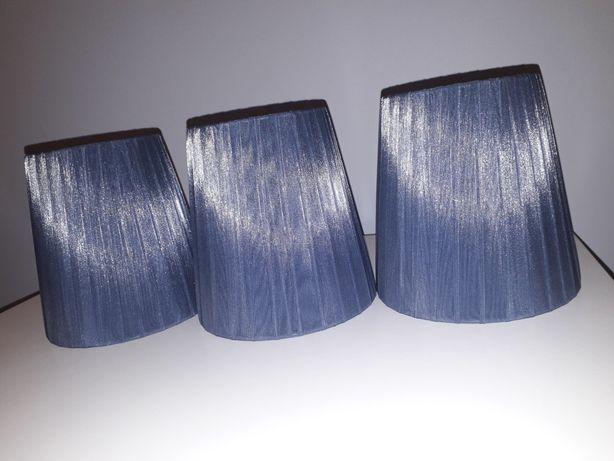 3 klosze z materiału antracytowe szare - stan idealny