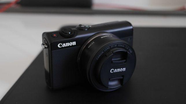 Canon m100 + kit lens + canon ef m 22mm (conjunto)