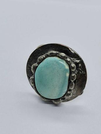 pierścionek z metaloplastyki rękodzieło Cu/Ag Eemit
