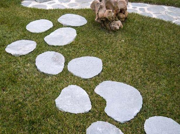 Stopnie owalne szare oval kawalas alejki ogrodowe architektura rabaty