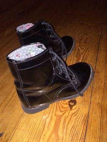 Buty botki dziewczęce rozm 30 czarne
