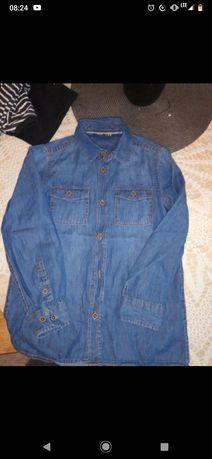 Komplet Koszula spodnie koszulki 122