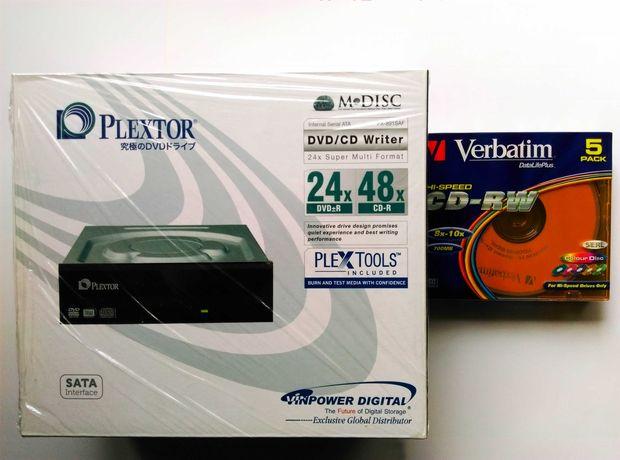 Plextor PX-891SAF-R (24X Sata DVD±R DL) + CD VERBATIM (SlimBox 5шт)