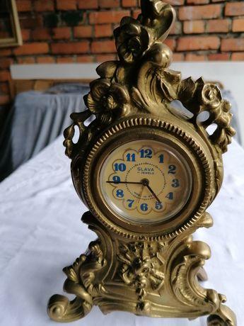 Zegar mosiężny stojący