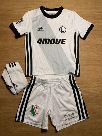 Strój piłkarski Legia Adidas oryginalny 104 3-4 lata