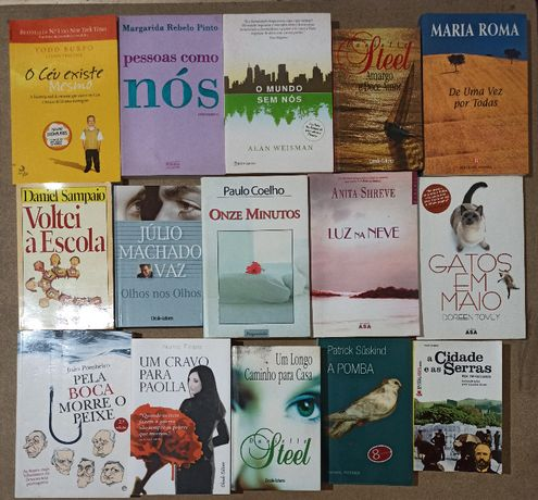 Vários livros + vários autores