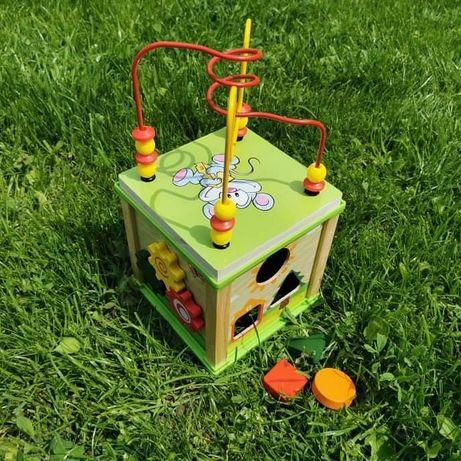 Нова розвиваюча іграшка розумний куб пальчиковий лабіринт