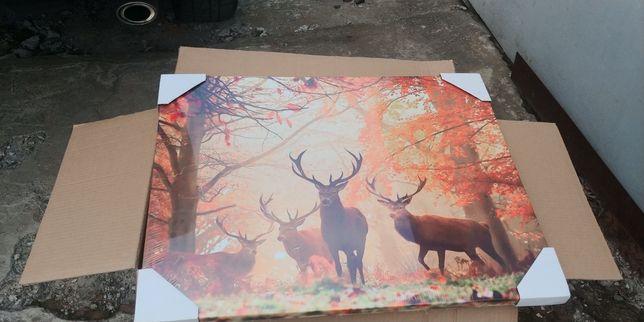"Картина"" рогатый олень "",лес ,со смыслом и без .на холсте .178 грн"