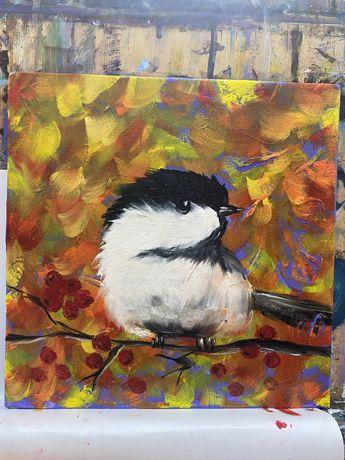 Картина птица