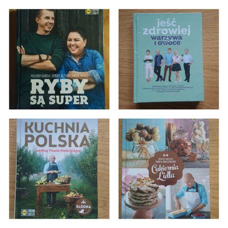 Książki kucharskie Lidla - Ryby, Warzywa i owoce, cukiernia, polska
