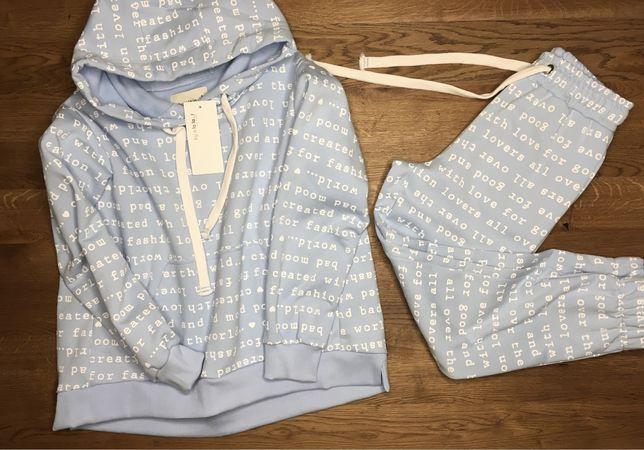 Dres spodnie bluza dresowe komplet by o la la oversize uniwersalny