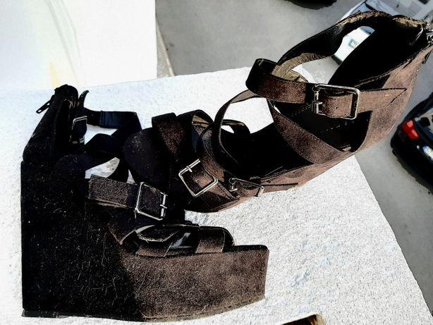 Sapatos Cerimónia Tam: 38 (preto camurça)