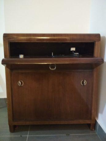 Zabytkowy gramofon szafkowy Dual 260 U, antyk, patefon, szafka