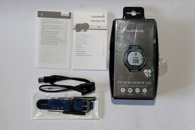 Zegarek Garmin Forerunner 235 seledynowy + pasek
