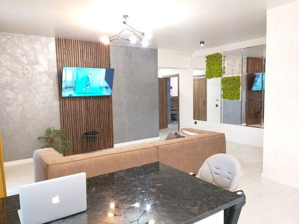 3к.VIP! НОВОБУДОВА! (Дизайнерський ремонт,меблі)95м2,vip,євро,техніка!