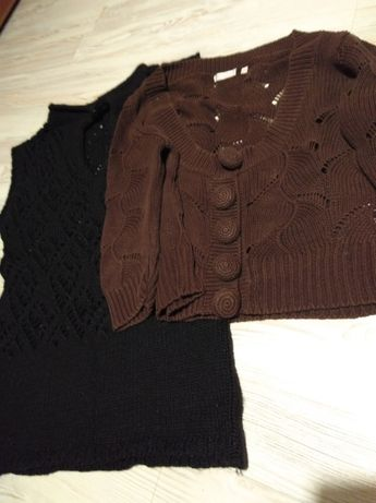 Sweter solar plus czarna tunika