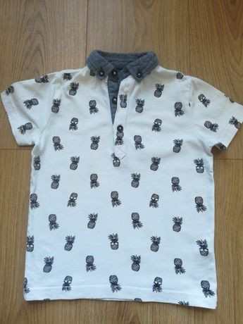 Koszulka z krótkim rękawem z kołnierzykiem rozmiar 98 F&F