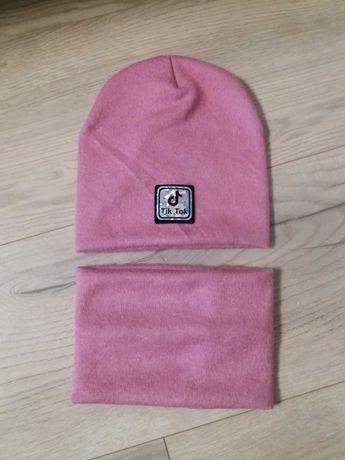 шапка +хомут для девочки