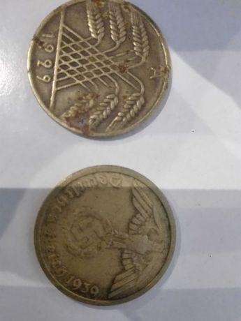 2 Stare Niemieckie Monetki. Cena 39 zł