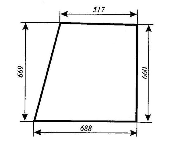 Szyba drzwi górna Ursus 3514, 4512, 4514, 5312, 5314, 5714, ACX180
