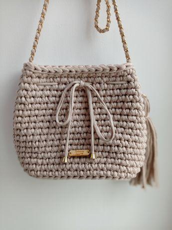 Torebka worek handmade (dostępna na zamówienie w różnych kolorach)