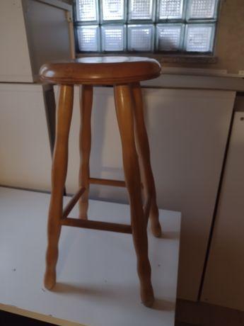 Stołki barowe drewniane 3szt.