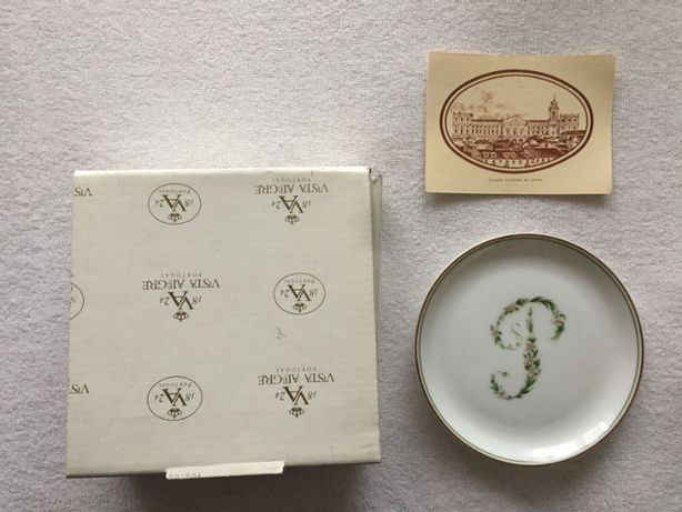 Prato Vista Alegre, Coleção Palacio Nacional da Ajuda - NOVO com caixa