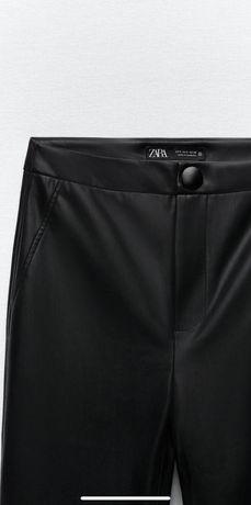Новые брюки лосины из искусственной кожи Zara
