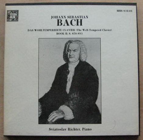 Johann Sebastian Bach / Sviatoslav Richter  3 LP Box 1980 USA