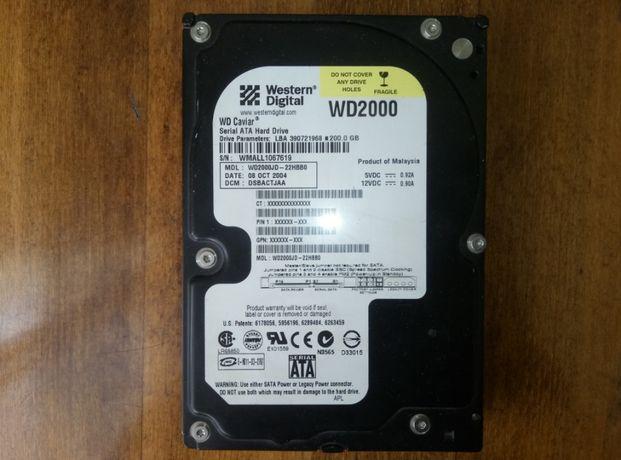 Жесткий диск 200Gb SATA Western Digital 3.5 WD2000JD 7200rpm 8Mb 200Гб