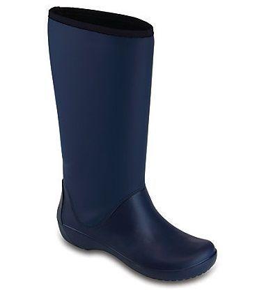Сапоги женские резиновые Crocs Rainfloe Tall Boot размер W8 и W10