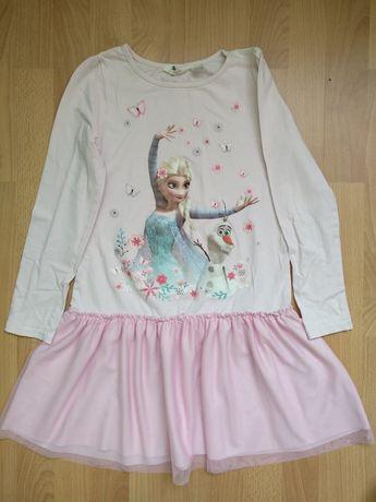 Платье Эльза для девочки 8-10 лет,134-140