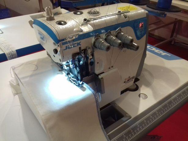 Máquina de corte e cose 2 agulhas JACK E4 - Nova.